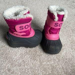 Sorel Pink Girls Boots Size 5
